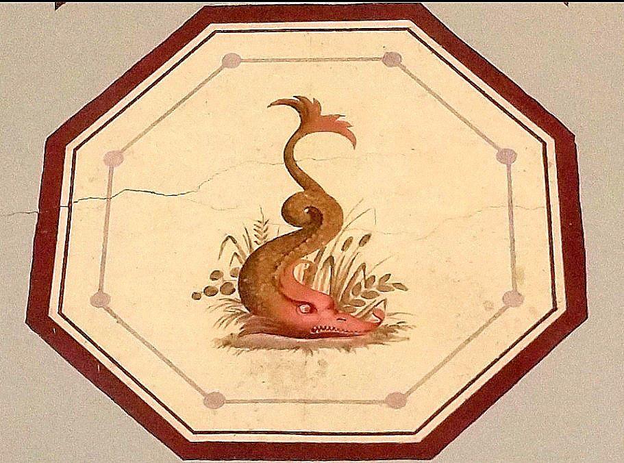 Détail des fresques des thermes de Luchon.