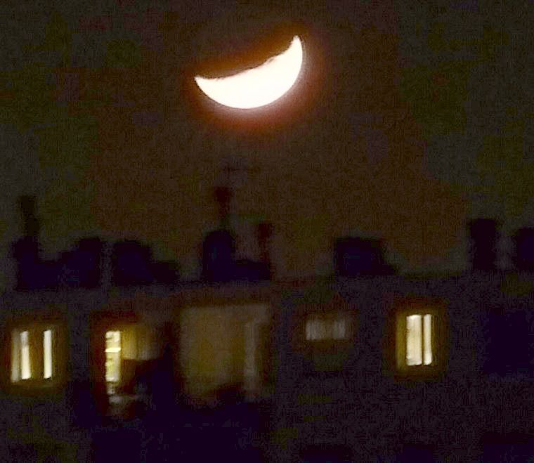 Photo du coucher de Lune du 25 décembre 2017