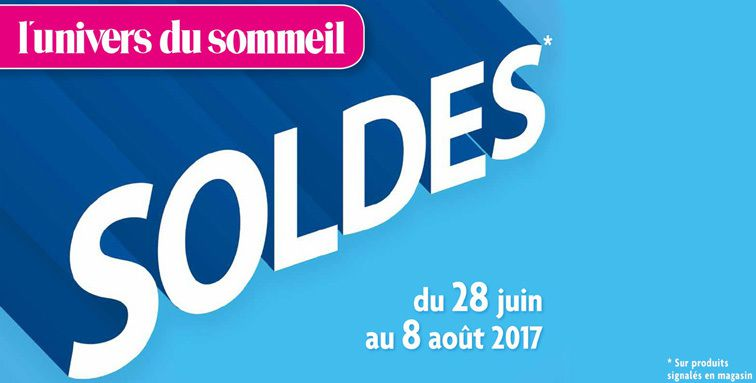 soldes d 39 t du 28 juin au 8 ao t 2017 literies 19 uds19 univers du sommeil univers du. Black Bedroom Furniture Sets. Home Design Ideas
