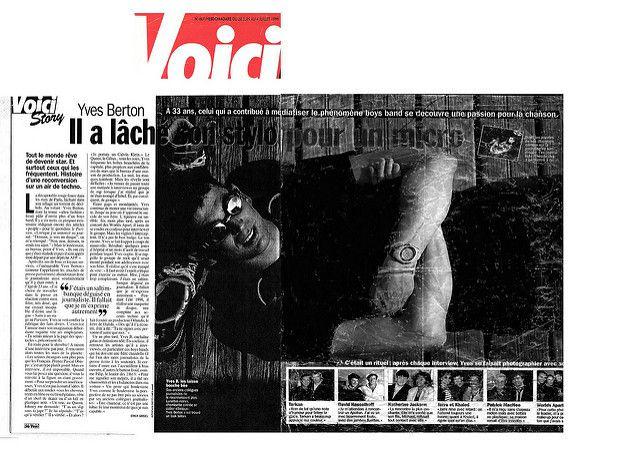 Yves Berton, histoire d'une reconversion, article de Voici du 28 juin 1998