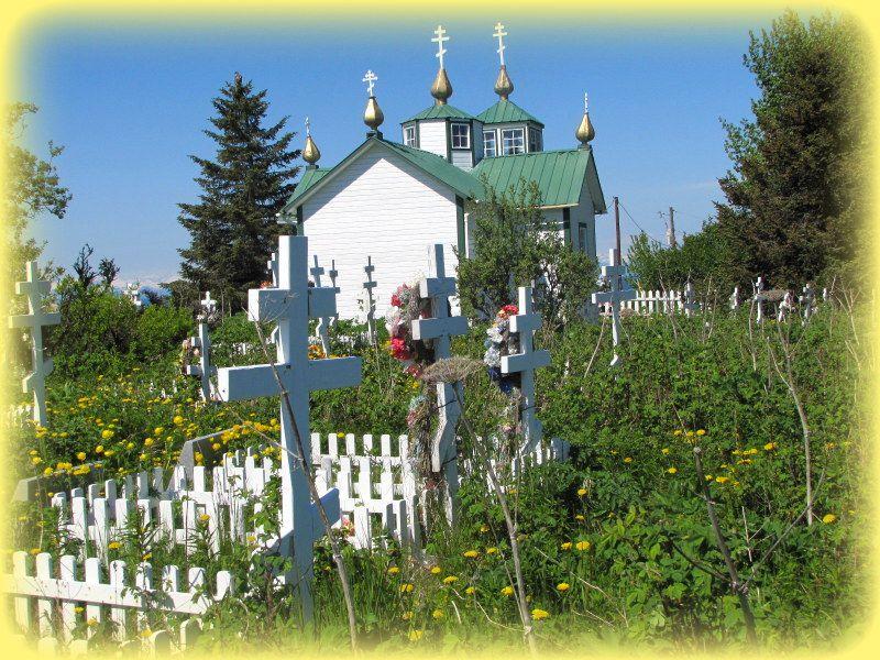 Church Russian Orthodoxe  à Ninilchik ...