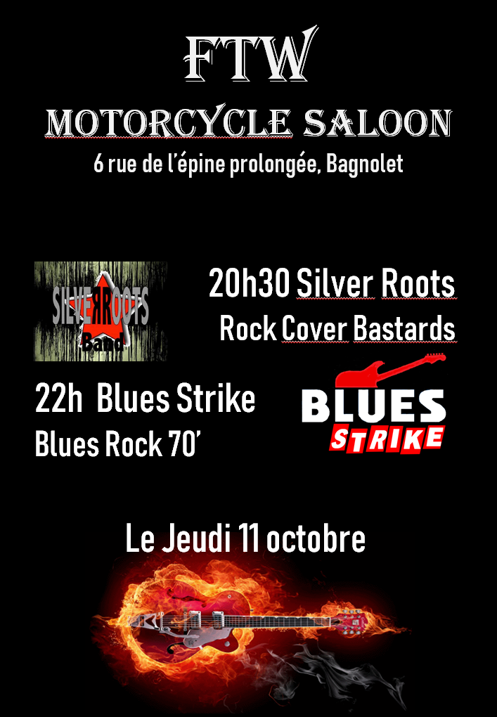 Concert Silver Roots et Blues Strike à l'Espace Dennis Hopper le 11 octobre