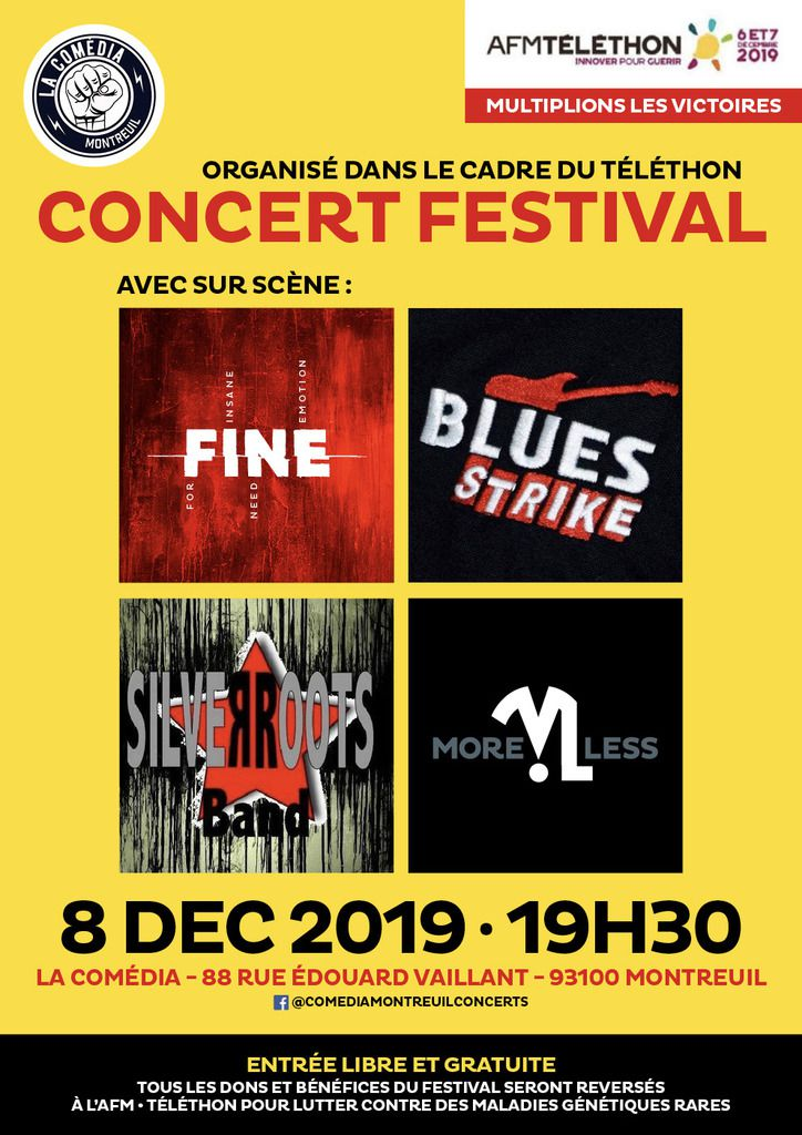 Festival Téléthon à la Comedia Montreuil Concerts