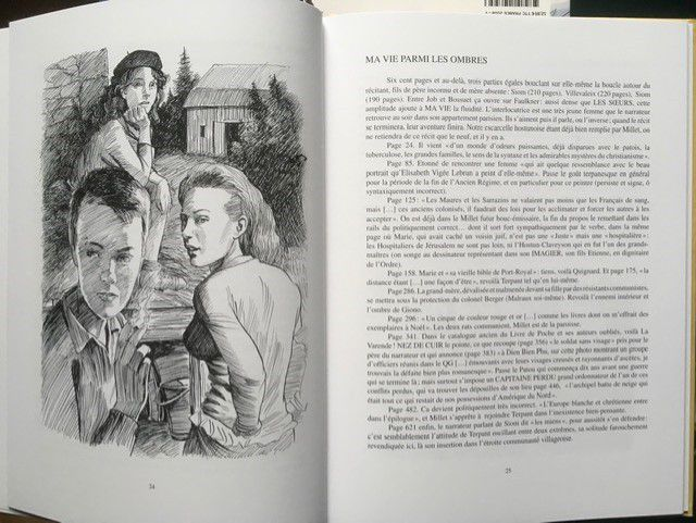 pages texte illustré de Patrick Bellier.