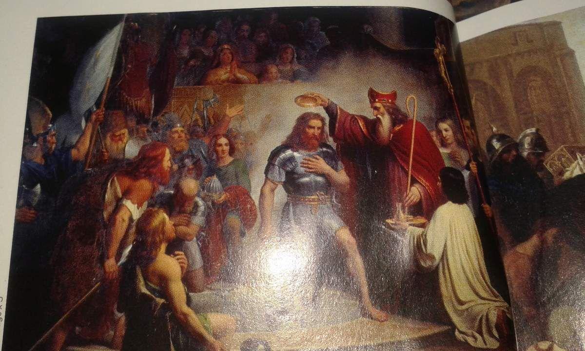 Le baptême de Clovis à Reims le 25 décembre 496