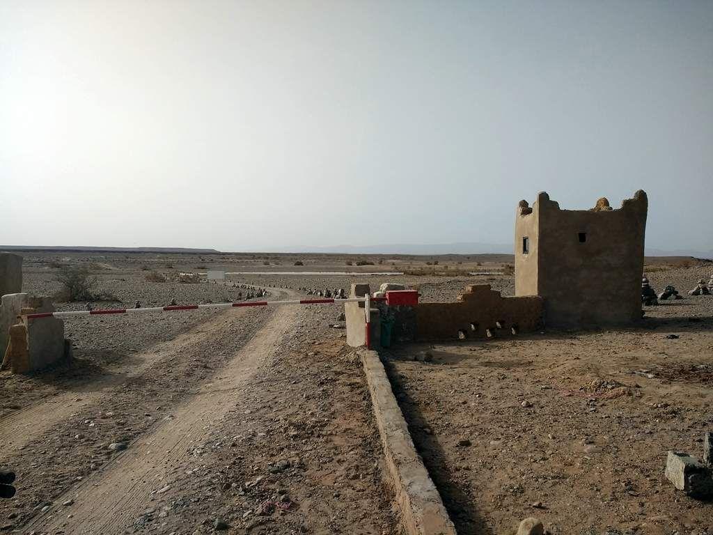Un barrage militaire.