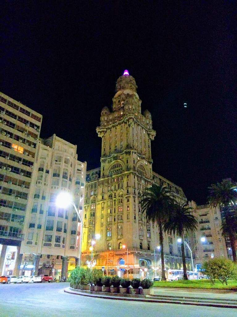 Montevideo by night.