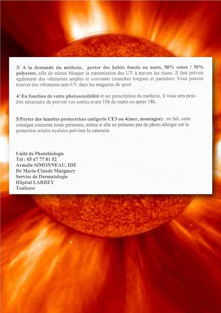 Protection solaire...