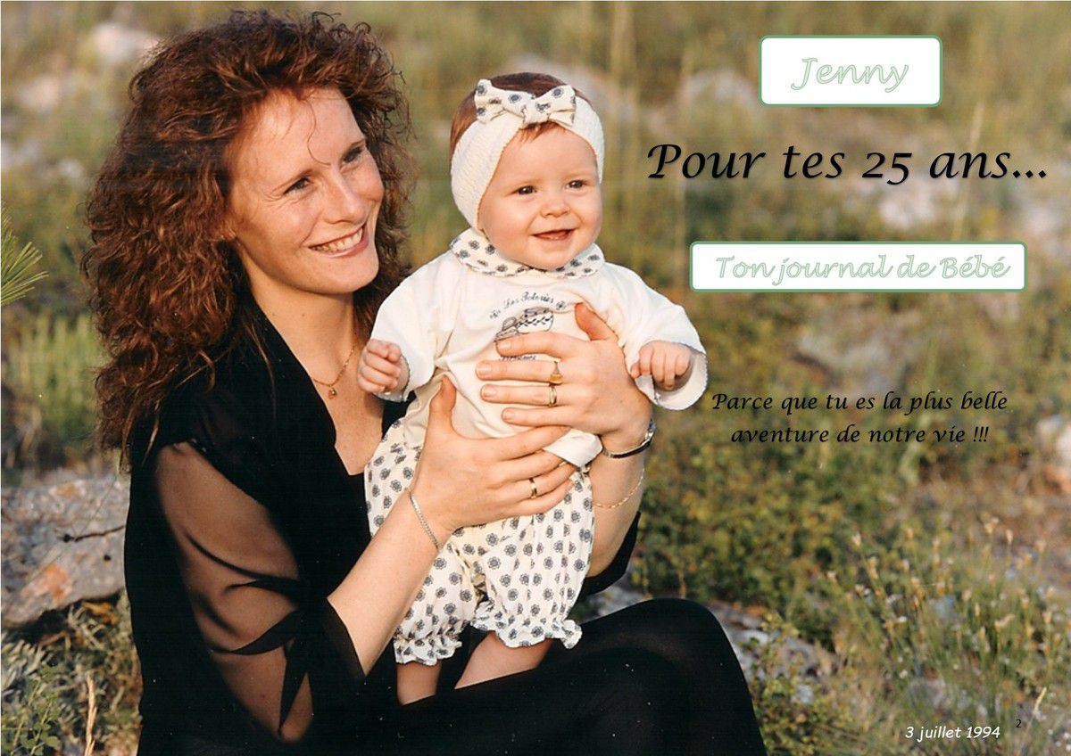 25 ans...Joyeux anniversaire Jenny !!!