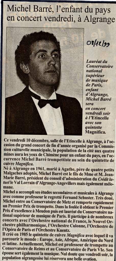 Harmonie et Magnifica à Algrange en 1999