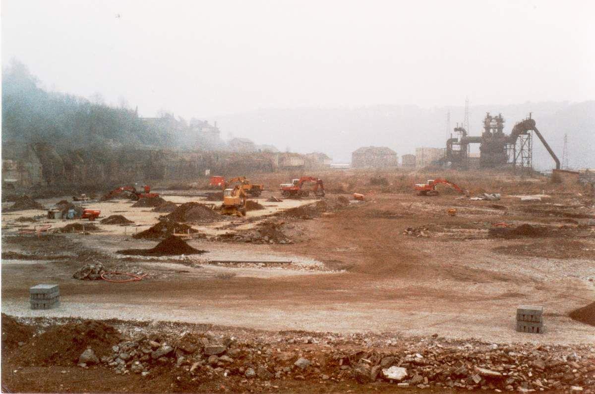 SUPER U à Algrange (de 1985 à 2017) sur le site de l'usine LA PAIX (ex S.M.K.)