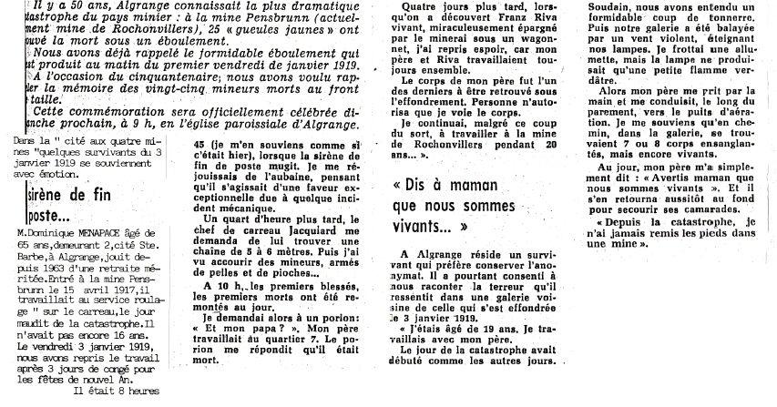 Article du républicain Lorrain du 5 janvier 1969: