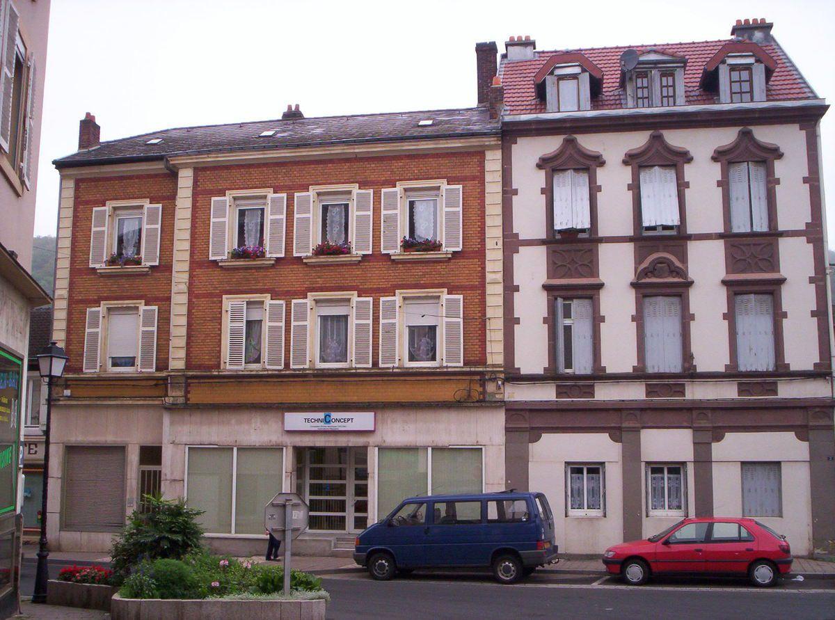 N° 4 rue Jean Burger à Algrange - Alimentation - Librairie - Habillements - Bureau d'Etudes....
