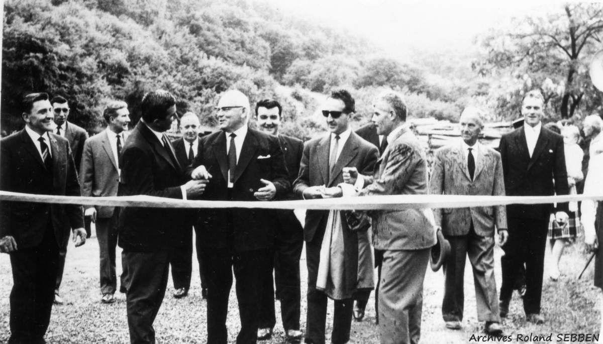 Inauguration du stade Sports et Loisirs Burbach (S.L.B.) à Algrange en 1964