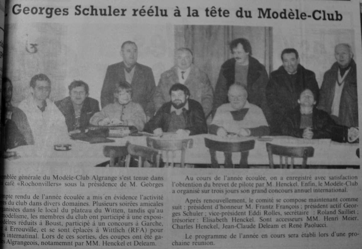 Dernière photo: RL du 20 janvier 1987