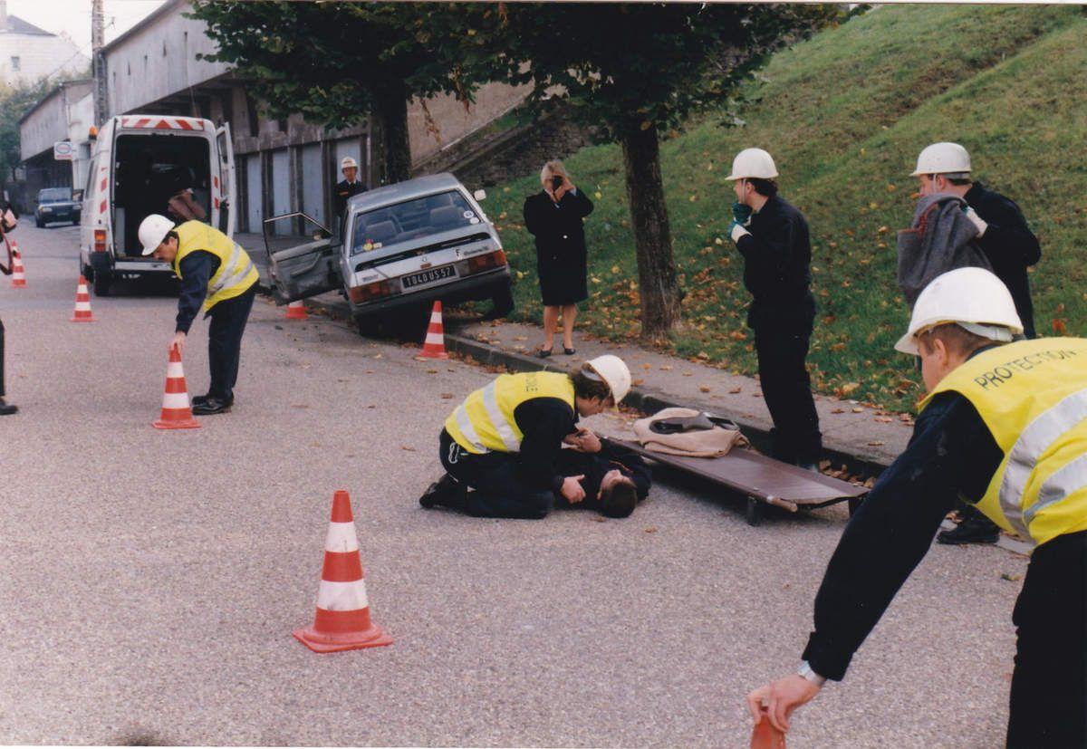 Inauguration des nouveaux locaux de la Protection Civile en 1996 à Algrange