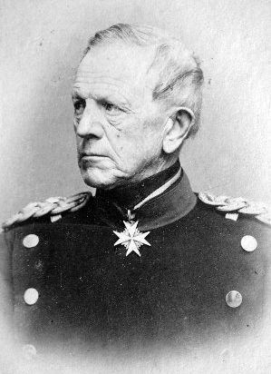 Portrait de Helmuth Karl Bernhard von Moltke et téléphérique descendant du Witten vers la mine Moltke