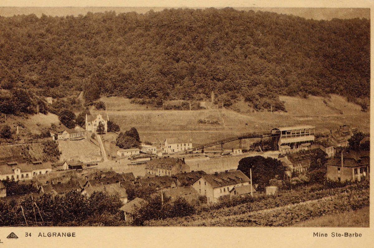 La mine MOLTKE, devenue SAINTE BARBE puis La PAIX à Algrange