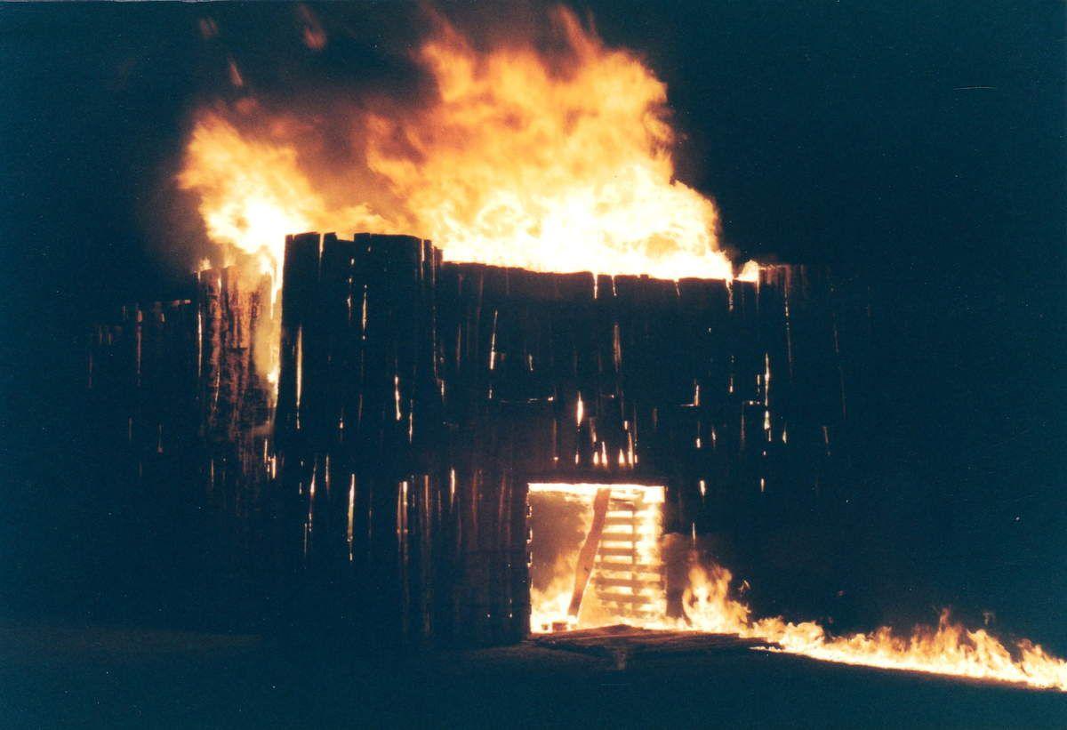 Feux de la saint Jean en 1989 à Algrange
