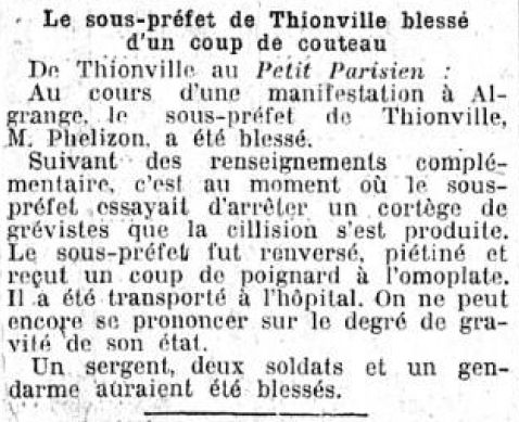 Publication du Le Gaulois du 24 avril 1920 (Source BNF)