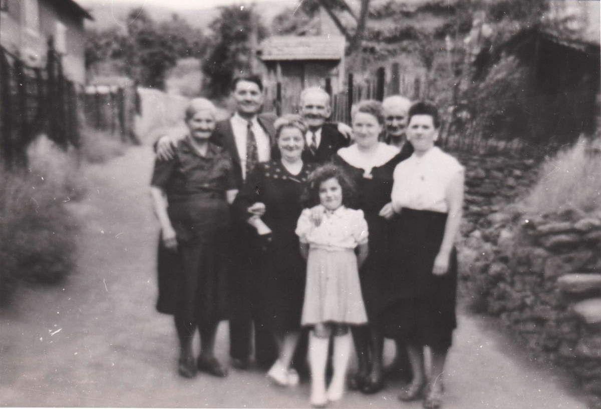 Rue de la Fontaine à Algrange dans les années 1950