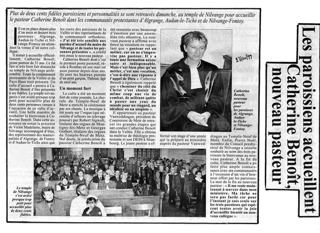 Livre de Roland SEBBEN - ALGRANGE Cité aux 4 mines - La paroisse protestante de 1985 à nos jours (9c)
