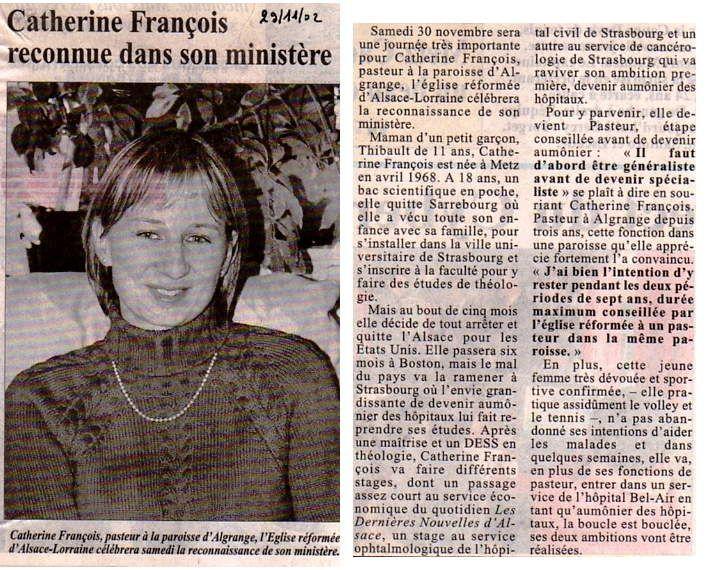 Républicain Lorrain du 29 novembre 2002