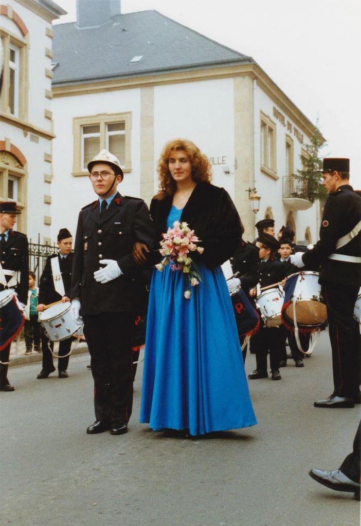 Sainte-Barbe des Sapeurs-Pompiers à Algrange en 1994