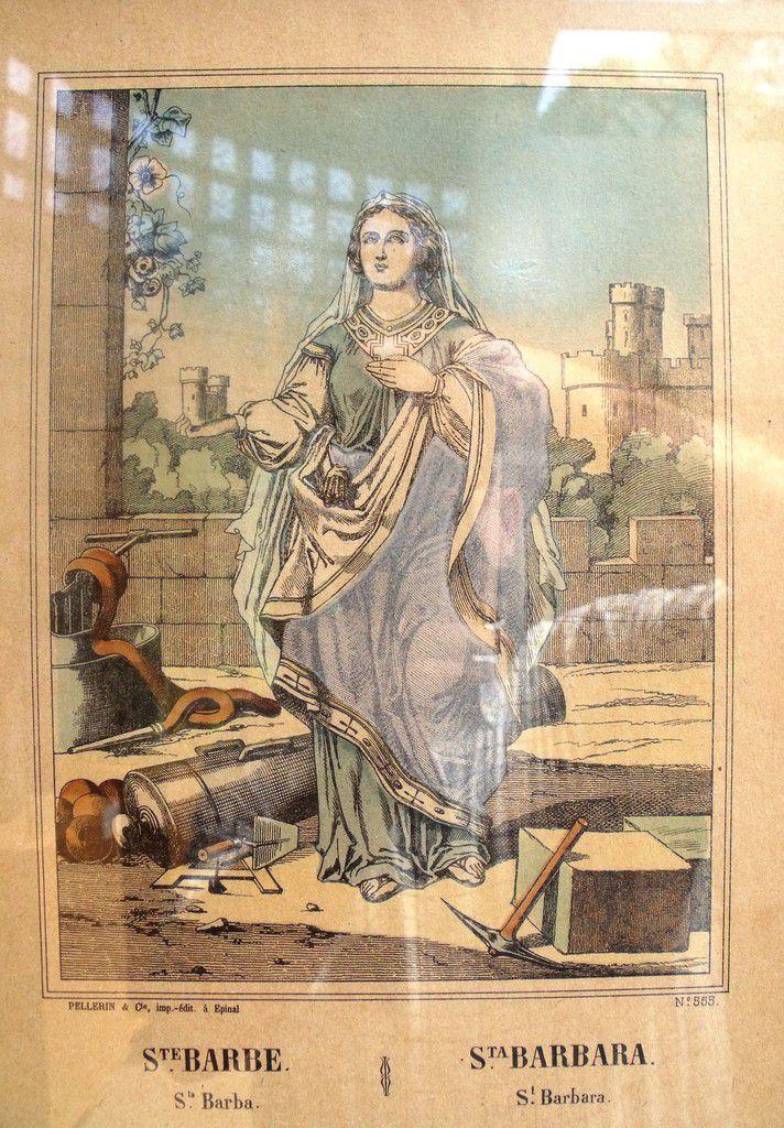 Sainte Barbe - La légende de la patronne des mineurs et artificiers à Algrange