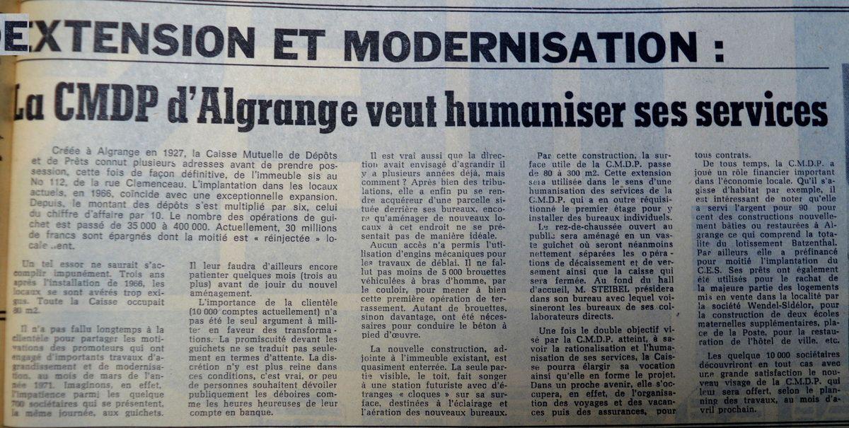 Républicain Lorrain du 31 janvier 1972