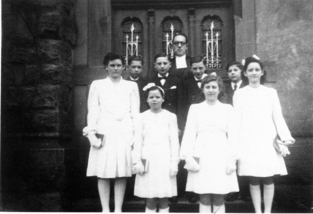 Confirmation au temple protestant en 1947 à Algrange