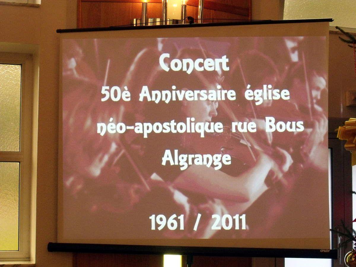 Concert pour les 50 ans de l'église néo-apostolique à Algrange en 2011
