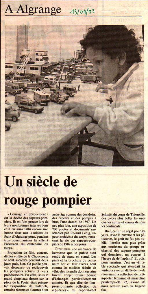 Articles du Républicain Lorrain du 13 avril 1992