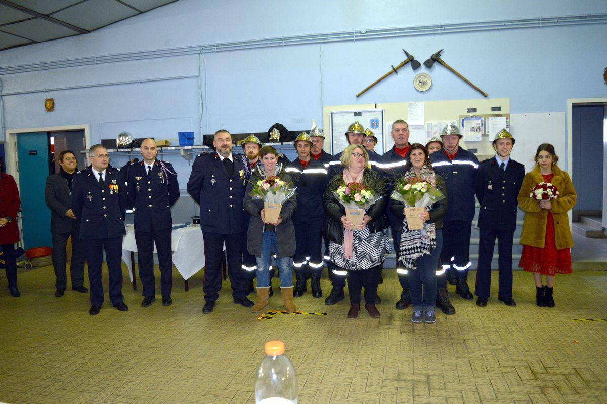 Sainte Barbe des Sapeurs Pompiers à Algrange, en 2019