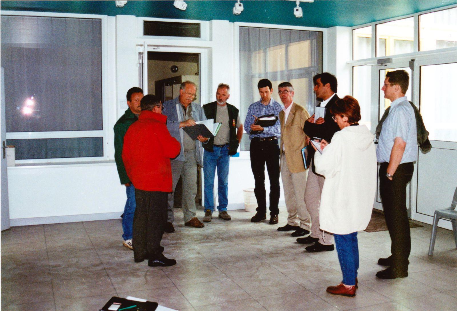 Travaux en 2002, à la maternelle LA LORRAINE à Algrange