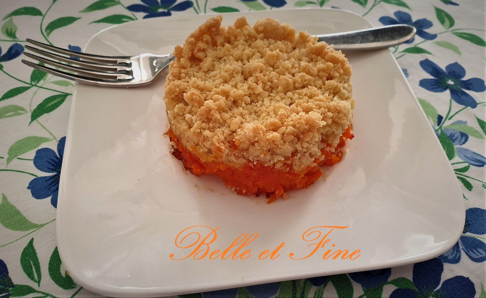 Crumble de carottes au citron et parmesan