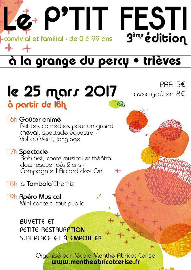 LE P'TIT FESTI: 25 MARS - LA GRANGE - A PARTIR DE 16H00