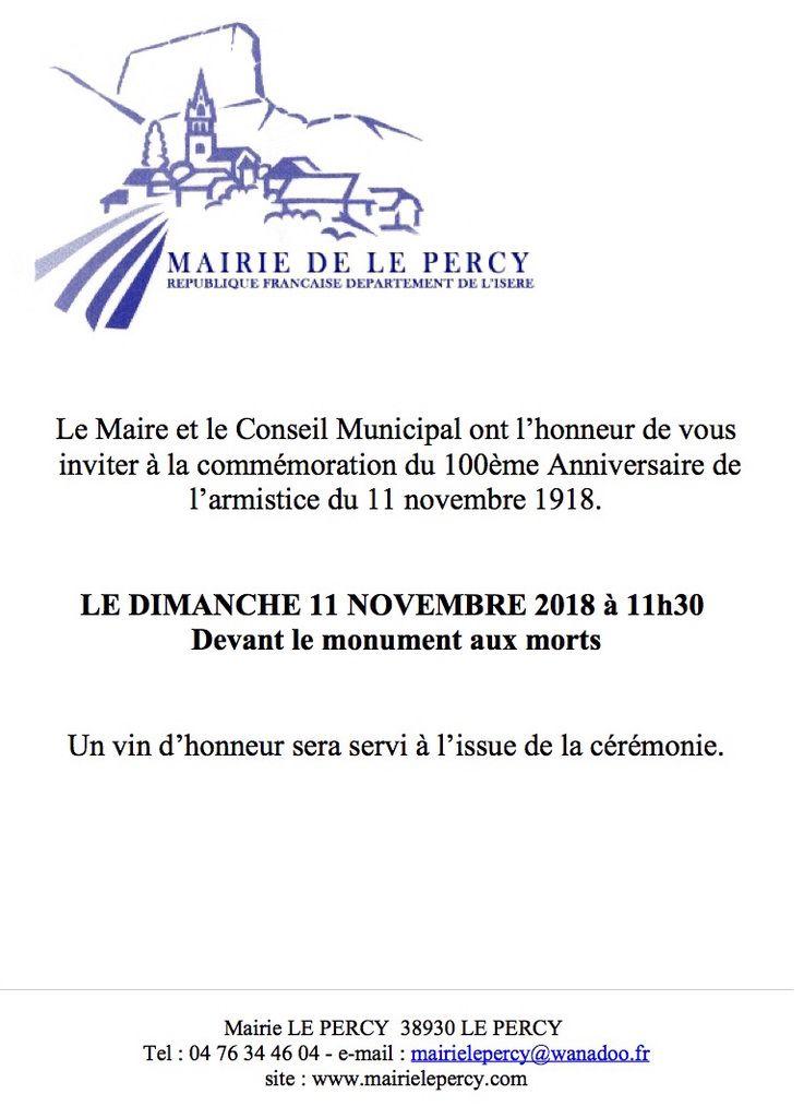 Commémoration 11/11/18