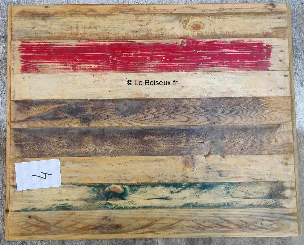 Plateau 60 x70, bois de palettes