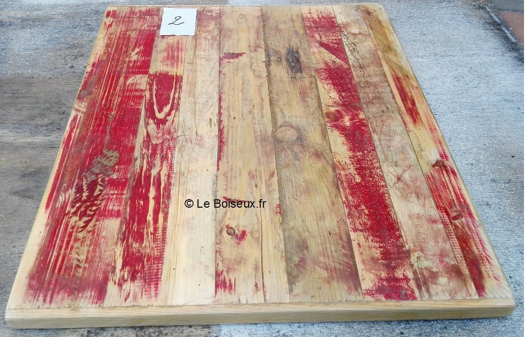 Plateau, bois de palettes recyclé, 60 x 70 cm