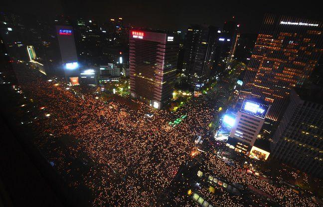 La manifestation à Séoul a rassemblé plus d'un million de participants, un record depuis 1987.