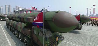 Une parade militaire a été organisée par la RPD de Corée à l'occasion de la fete nationale du 15 avril 2017.