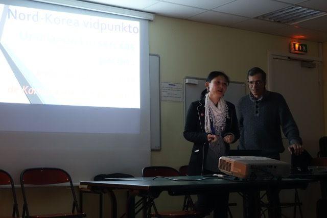 Les espérantistes de l'AAFC ont rendu compte à Paris de leur voyage en Corée du Nord