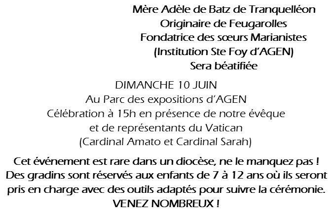 Un événement pour notre diocèse ! Une Béatification !