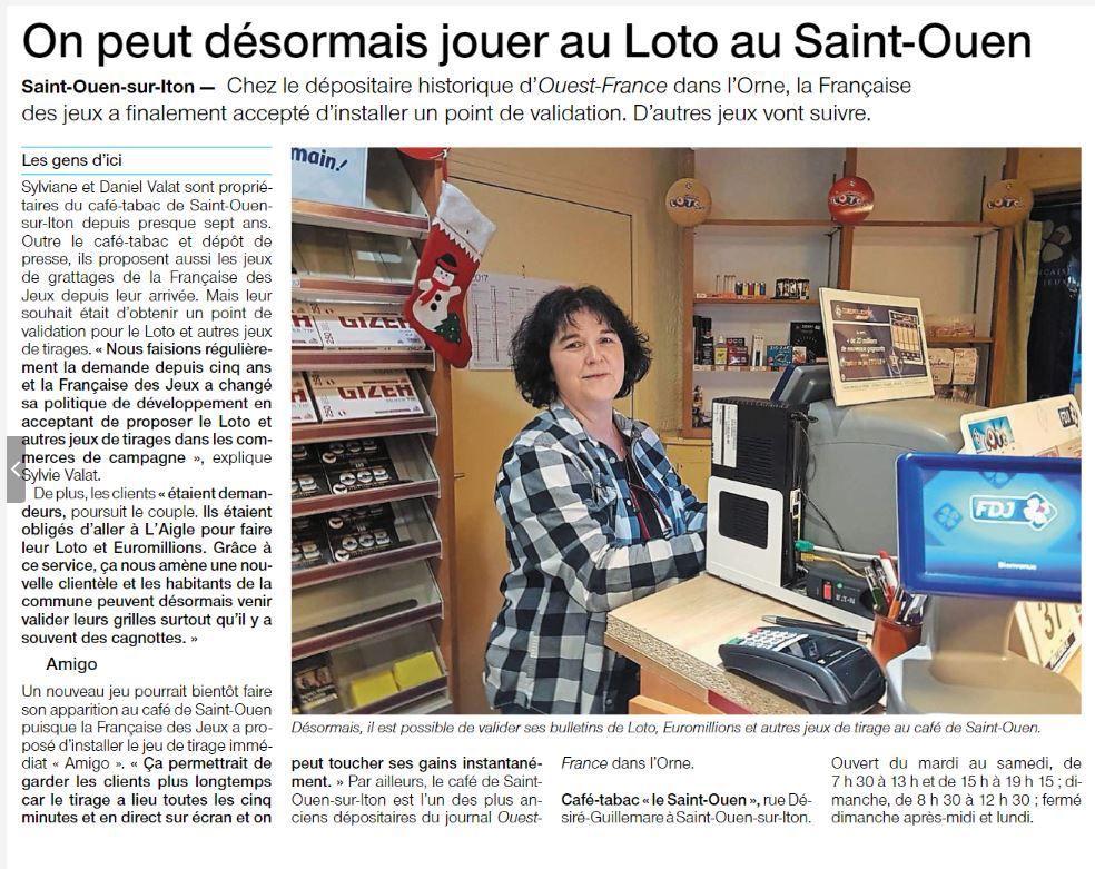 LE LOTO EST ARRIVé AU BAR DE SAINT-OUEN