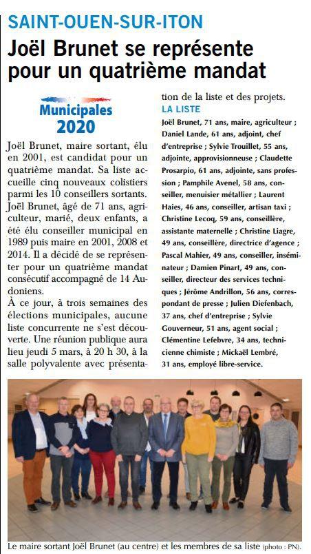 MUNICIPALES 2020 (Paris-Normandie)