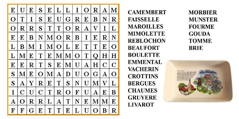 Mots m l s fromages le blog de ludovica - Grille de mots meles a imprimer ...