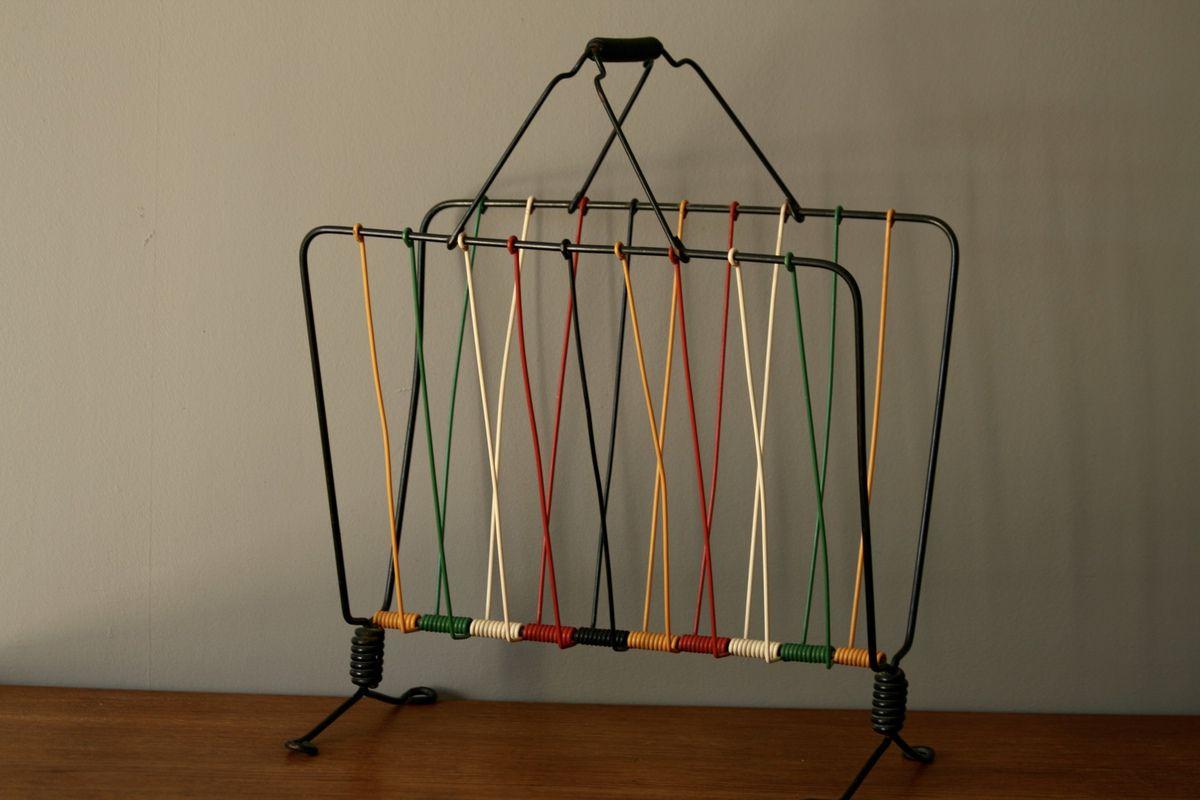 Porte revues en fils effet de couleur ann es 50 vintage for Decoration porte novembre