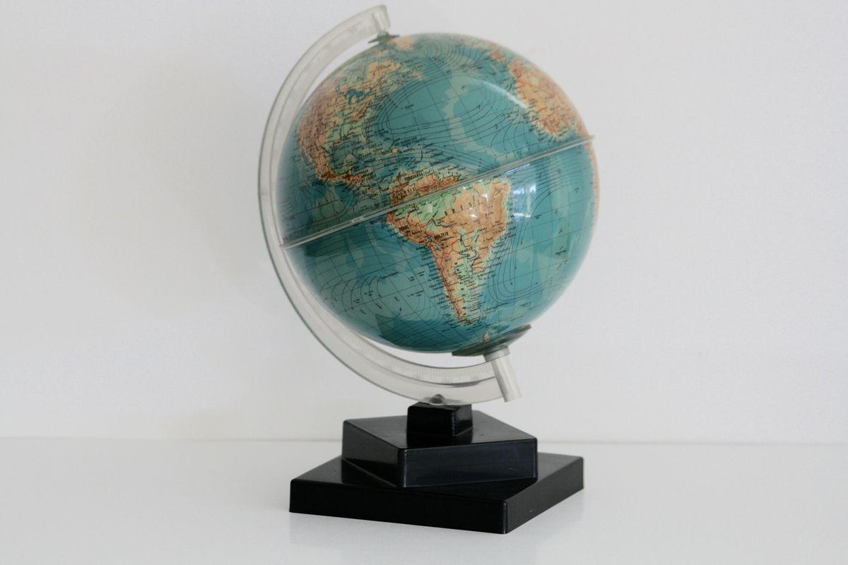 Petit globe terrestre Grange Batelière Années 70 - Vintage