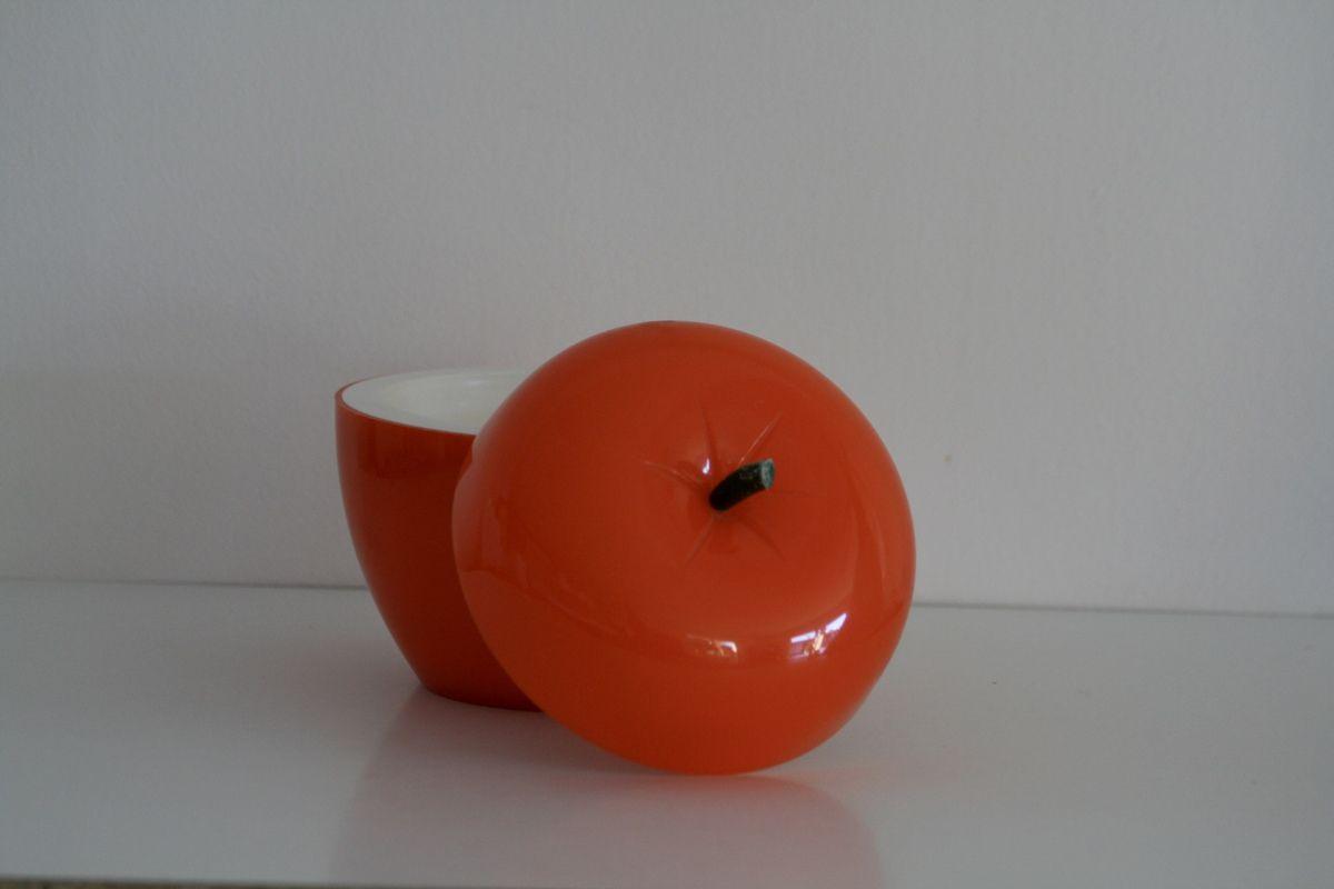 Pomme orange seau à glaçons Années 70 - Vintage